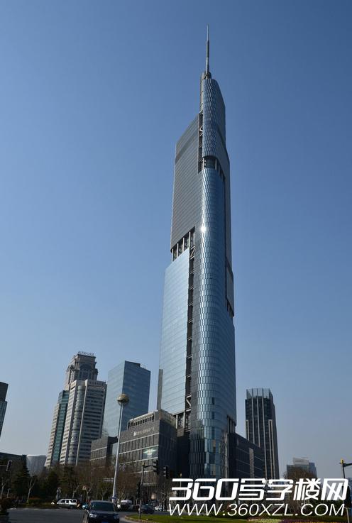 南京紫峰大厦是以办公为主,集商贸,宾馆,观光,会议等设施于一体的