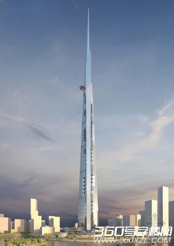 王国大厦模型-沙特在建世界最高大楼 标志性建筑王国大厦